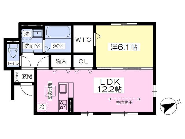 ■物件番号P4968 新築1LDK!犬もネコも可!1室限定!格安7.6万円!収納多い!都市ガス!