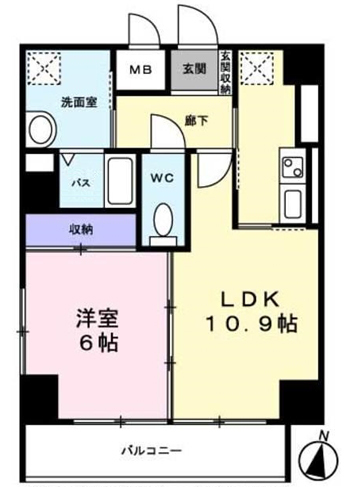 ■物件番号4971 茅ヶ崎駅10分!1LDKマンション!4階南向き!オートロック!宅配ボックス完備!8.1万円!