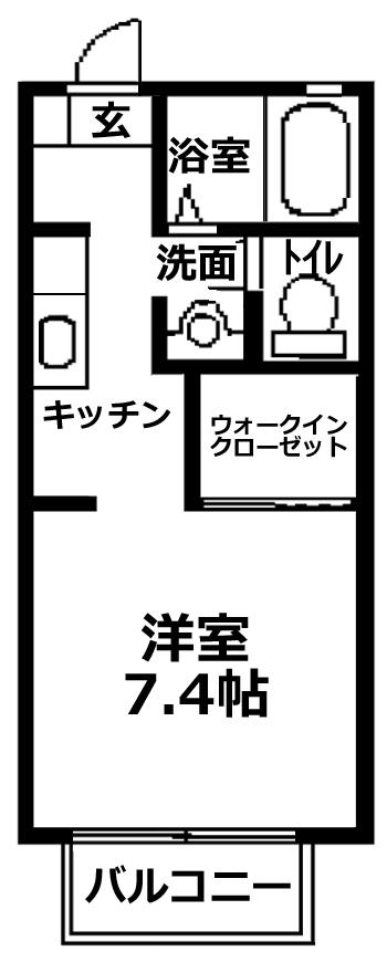 ■物件番号4981 海側5万円!7.4帖+ウォークインクローゼット付!バストイレ別!駐車場有り!