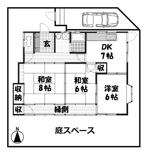 ■物件番号4985 ファミリー対応!70平米の昭和レトロ平屋入荷!3DK+縁側!庭付!ペット可!