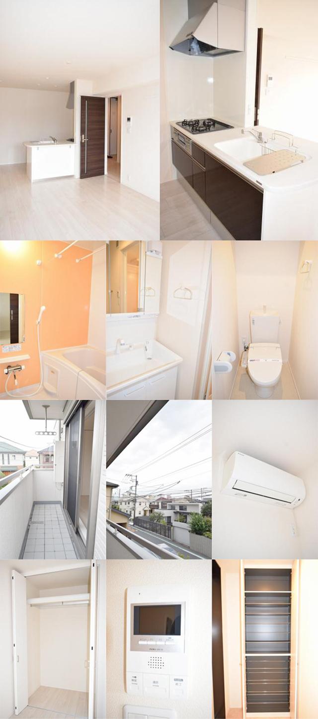 ■物件番号5057 海側2LDKマンション入荷!9.3万円!築浅!2階カド!都市ガス!オートロック!
