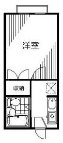 ■物件番号4962 鵠沼海岸サーファー必見!海3分!激安1K+ロフト付!2階!敷金&礼金ゼロ!4.2万円!