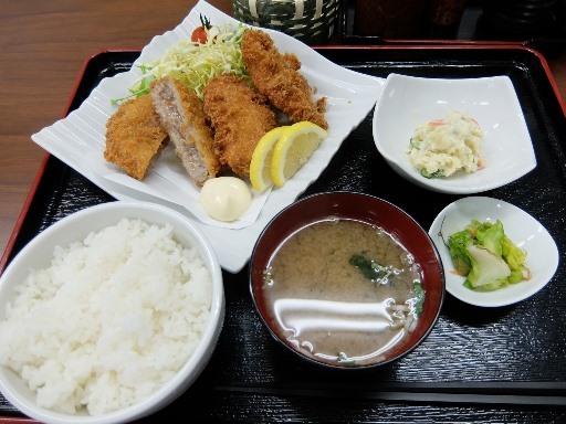 メンチ・ヒレカツ定食