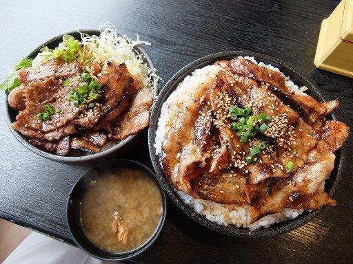ミックス丼と二段丼
