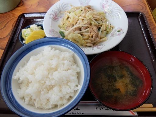 ホルモン炒め定食
