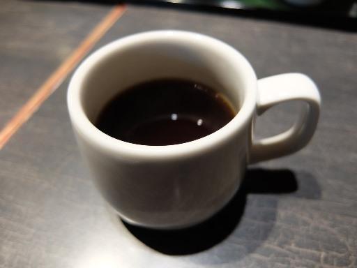 食後のセルフコーヒー