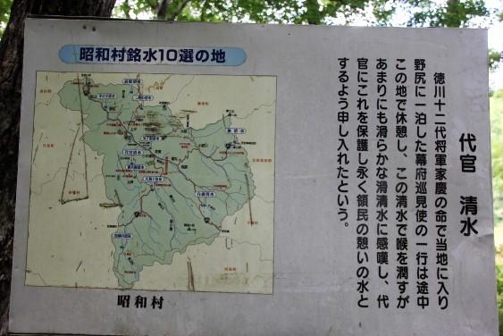 昭和村の銘水案内