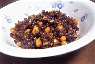 豆とひき肉