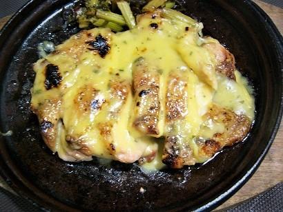 若鶏もも木の芽ステーキ (1)