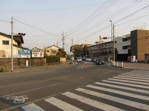 旧東海道(静岡県道208号) 長田西小学校付近