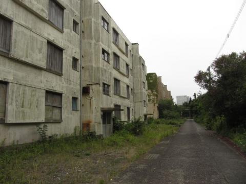 炭鉱アパート群