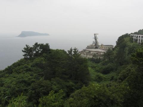第二立坑と大蟇島・小蟇島