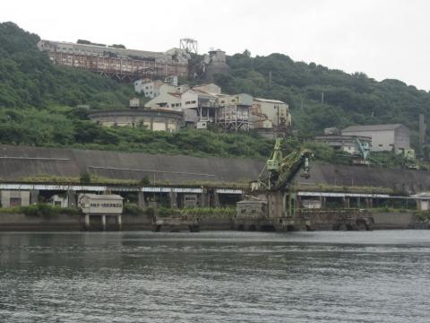 選炭場と石炭船積み機トリンマー