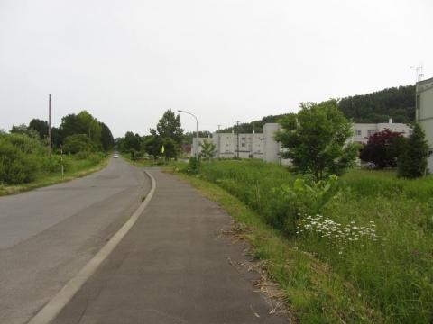 三井芦別鉄道跡・高校通駅跡付近