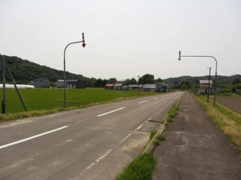 下幌成駅跡前