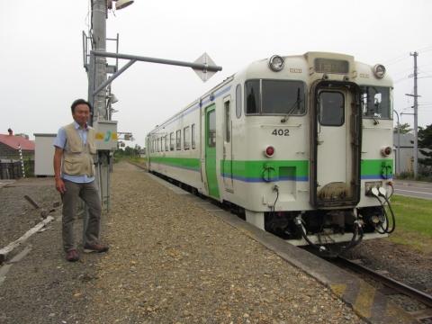 浦臼駅にて