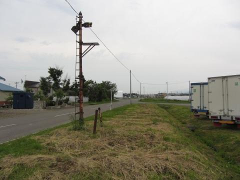雨竜駅跡の腕木式信号機