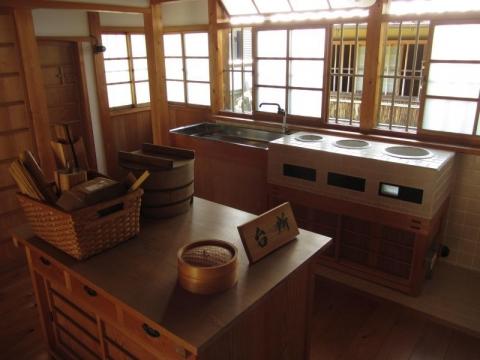 興津坐漁荘台所