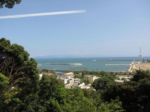 興津不動院境内からの眺め