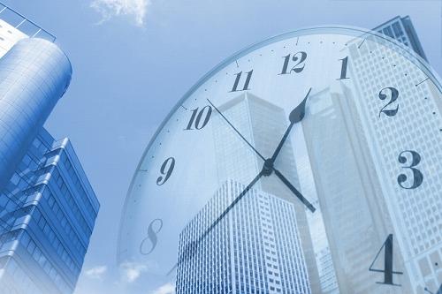 ビル街 時間 効率