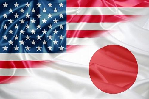 日本と米国 アメリカ 国旗