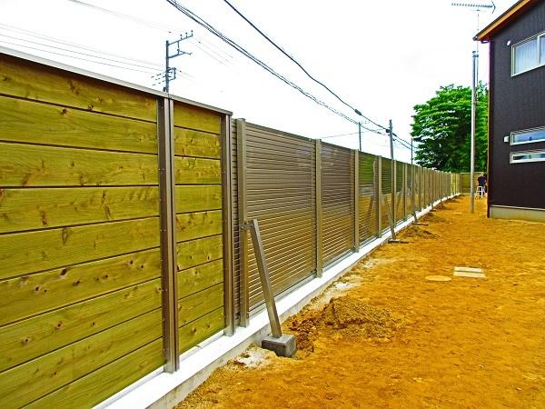 茂原市O様邸防音フェンス設置完了B3