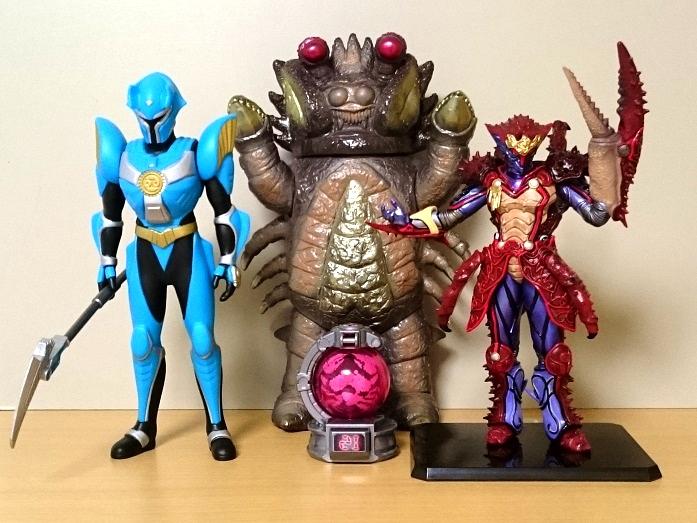 特撮蟹座玩具 帰ってきたウルトラマン、超星神グランセイザー、仮面ライダーフォーゼ、宇宙戦隊キュウレンジャー