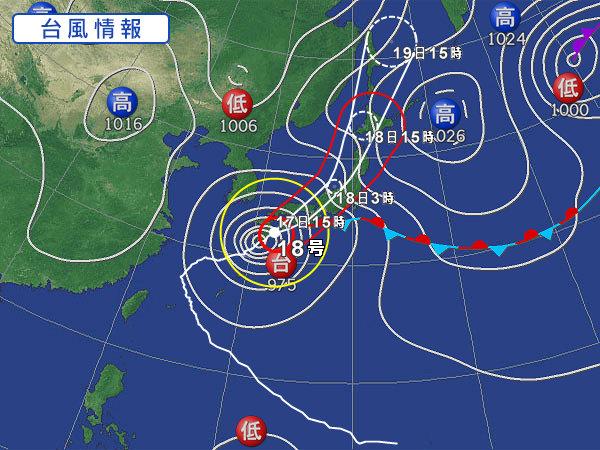 台風 天気図
