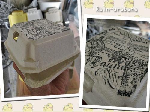 パルBOX(凸凹の無い玉子パック)にスタンプ♪