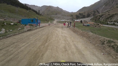 [2017/08/09] CheckPost, Barskoon Gorge, Sarymoynok Ashuu.