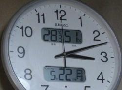 室温は28℃