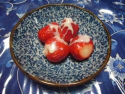 デザートは苺
