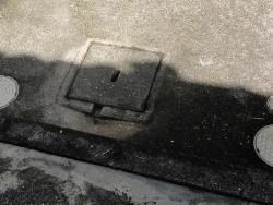 コンクリ製の雨水枡の詰まり除去20170824