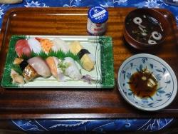 夕食は寿司20170717