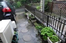 台風18号~強い雨がふりだした