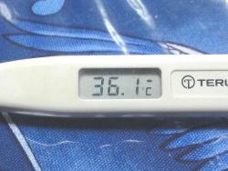 今朝の体温 36.1℃