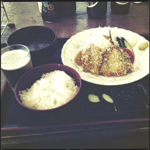 魚フライ定食。