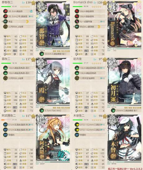 E-5第1ゲージ第2艦隊