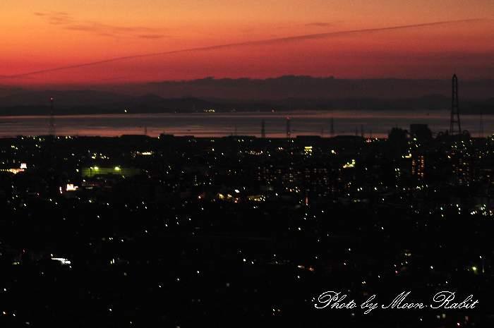 瀬戸内海の夕暮れ 愛媛県西条市