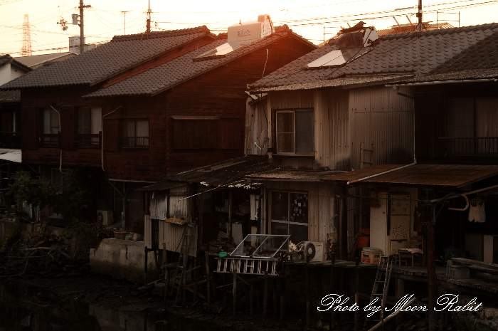 新堀下の夕景 愛媛県西条市
