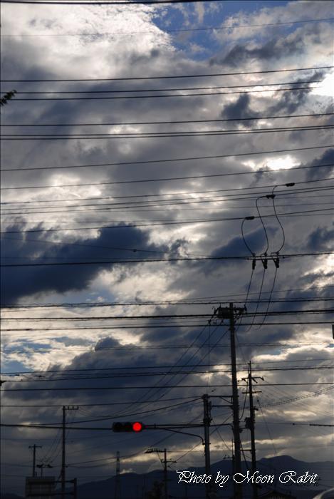 雲と電柱 愛媛県西条市禎瑞