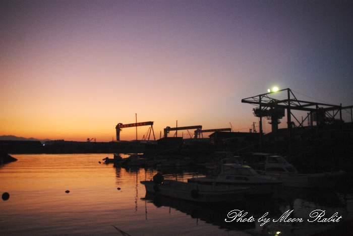 玉津漁港の夕景 愛媛県西条市船屋