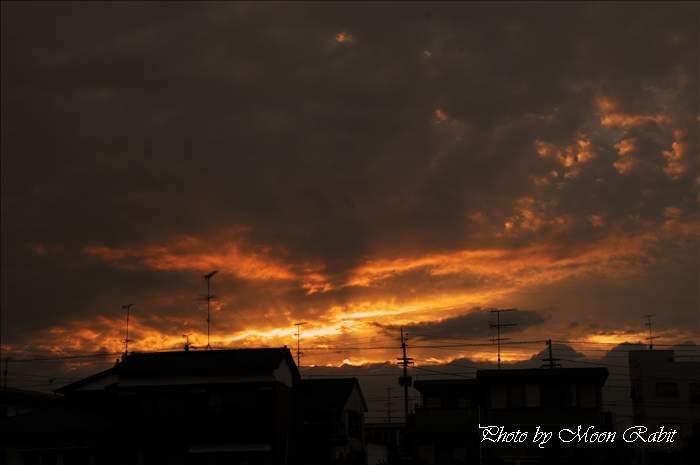 小松町の夕焼け 愛媛県西条市小松町新屋敷