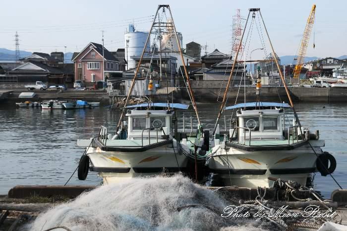 魚網と西条漁港