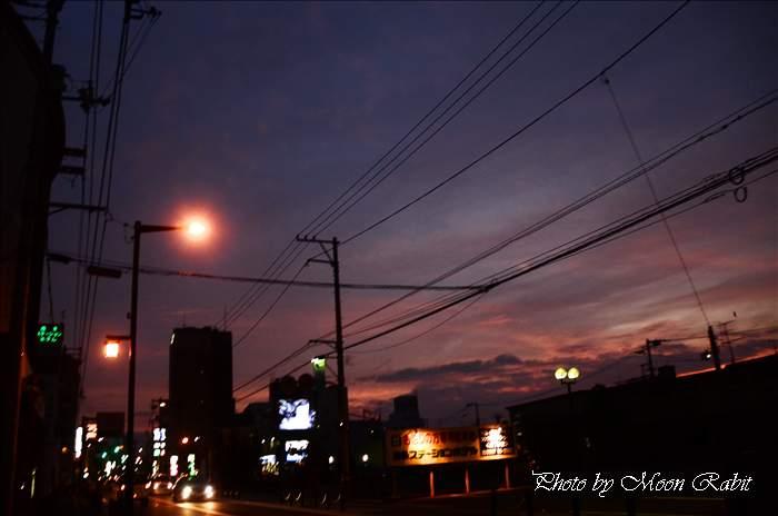 西条駅前付近の夜景 愛媛県西条市大町