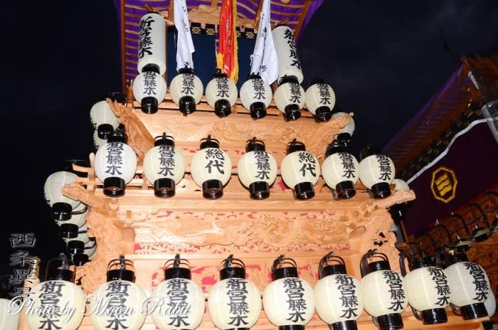 新宮藤木だんじり(屋台) 祭り提灯