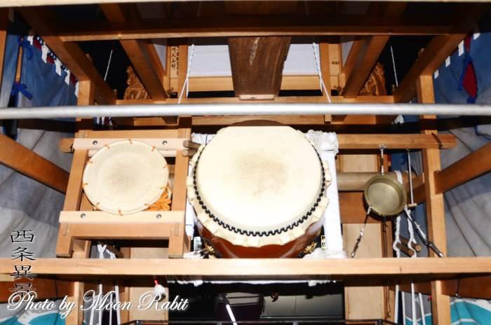 西町西組屋台(だんじり) 祭り太鼓
