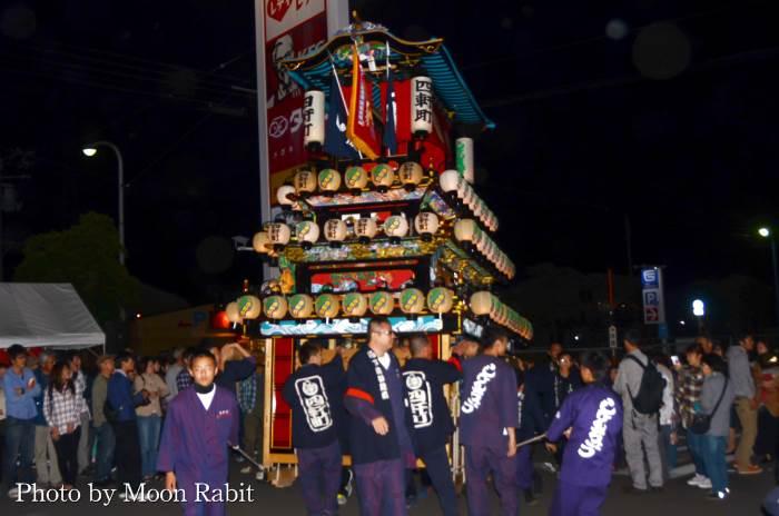 西条地区前夜祭 四軒町だんじり(屋台)