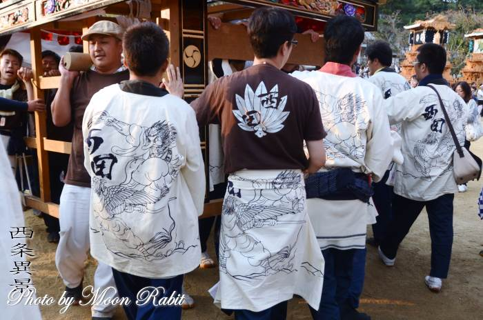 西田だんじり(屋台) 祭り装束