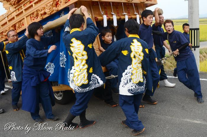 蛭子だんじり(屋台) 祭り装束